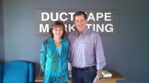 Jean Hanson with John Jantsch, founder of Duct Tape Marketing