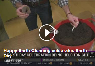 Happy Earth Cleaning gets publicity for Earth Day