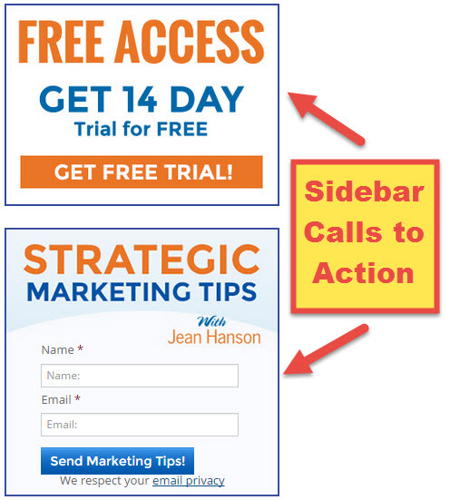 Sidebar Calls to Action