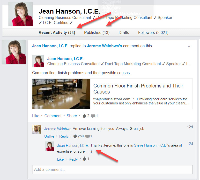 Do you have a personal brand on Linked In?