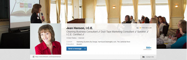 Jean Hanson's personal brand on LinkedIn