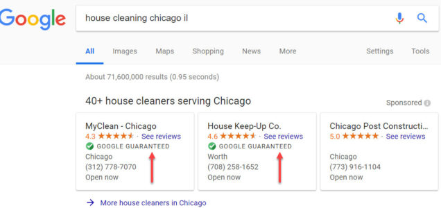 local services by google  u2013 lead generation for house