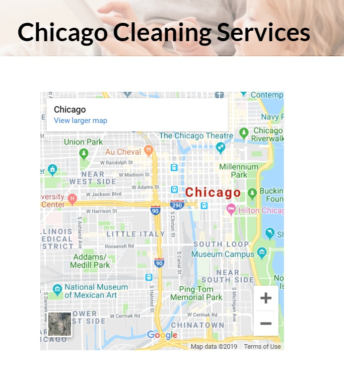 embeded location map for seo for cleaning services