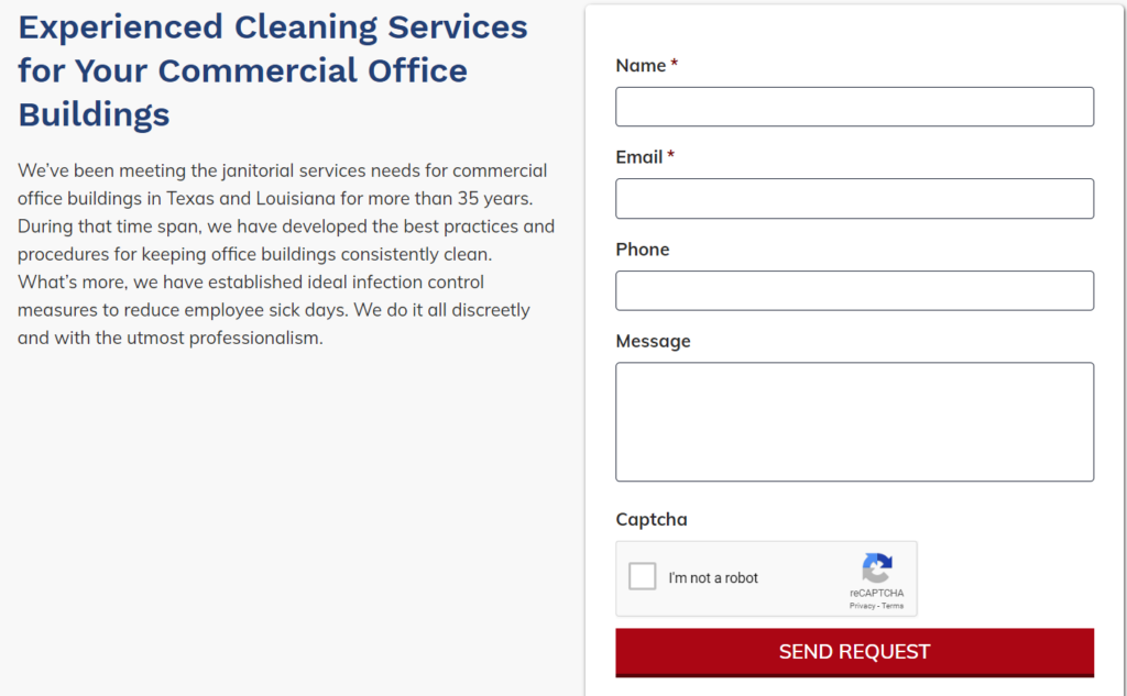 how to get new cleaning clients with opt in forms on industry pages