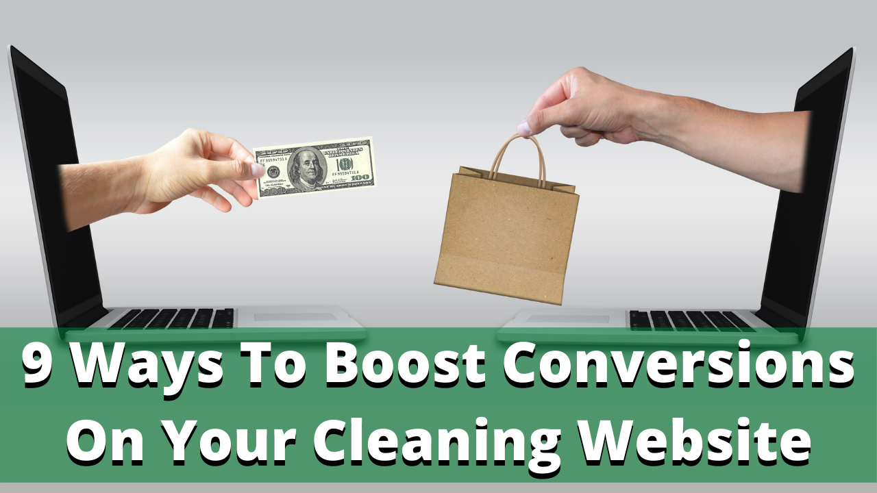 How to increase conversions on your cleaning company website