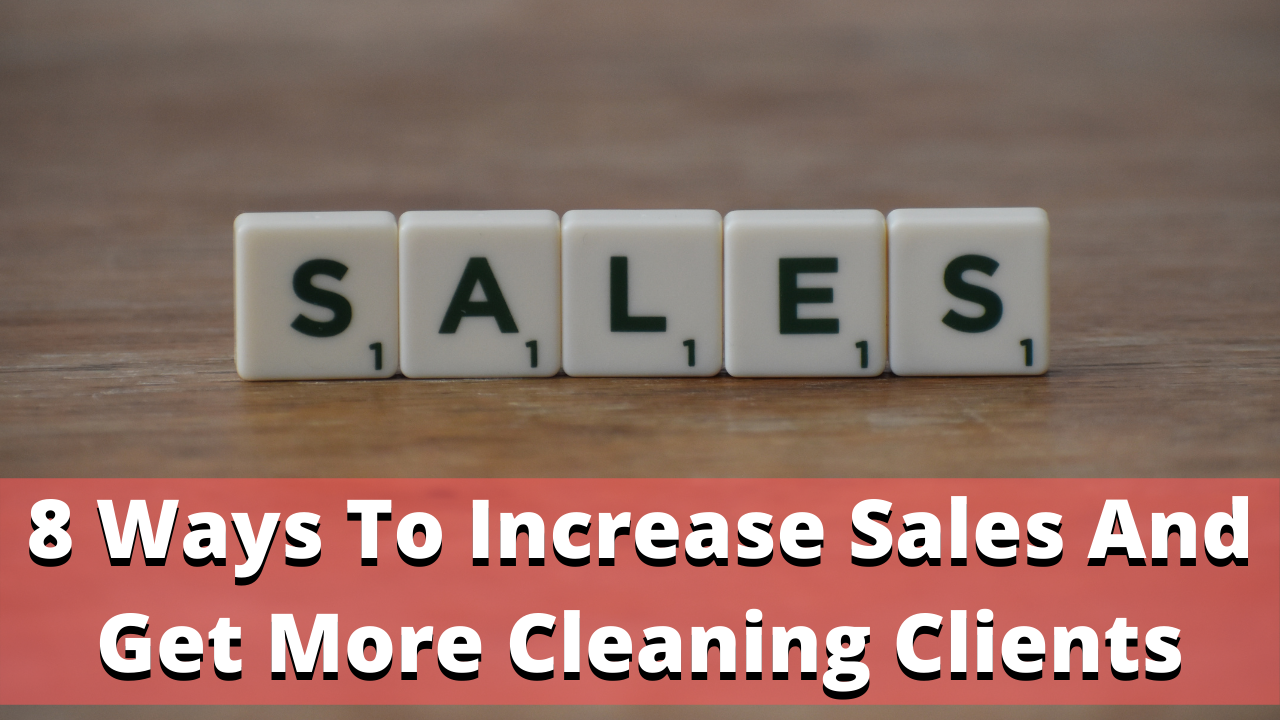 sales tips for cleaning business